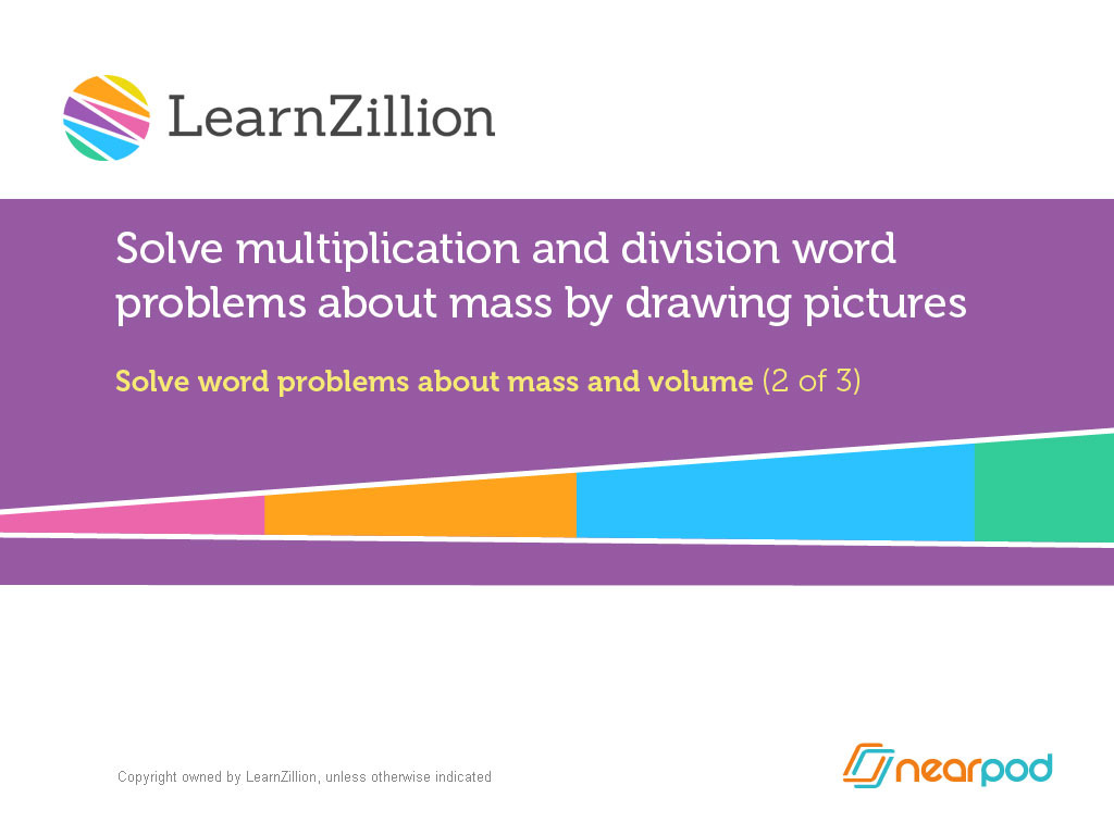 Solve Multiplication And Division Word Problems