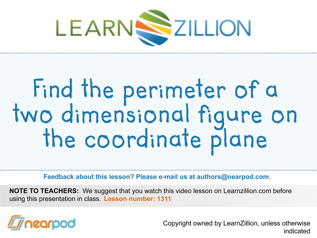 Find The Perimeter Of A Two Dimensional Figure