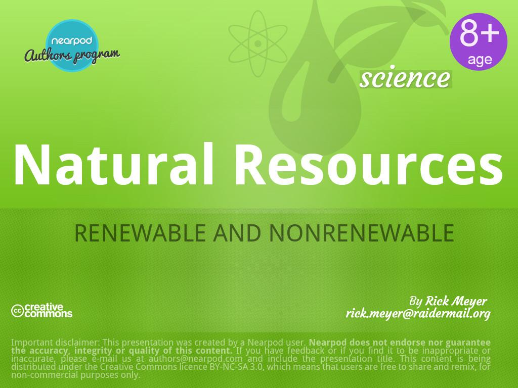 Th Grade Science Natural Resources Quiz