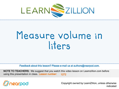 Measure Volume In Liters