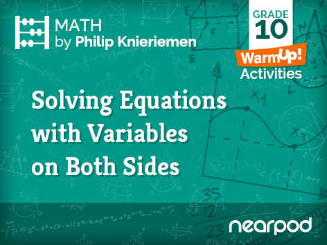 Solving Multi-Step Equations (Warm Up)