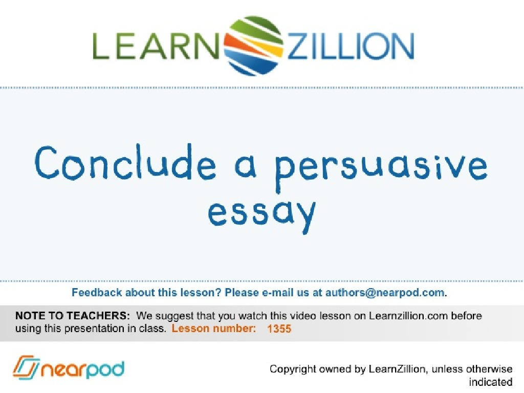 how to conclude a persuasive essay