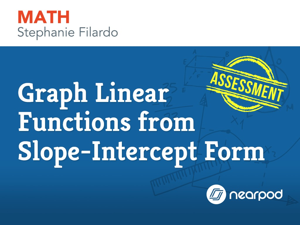 Linear functions from slope intercept form graph linear functions from slope intercept form falaconquin