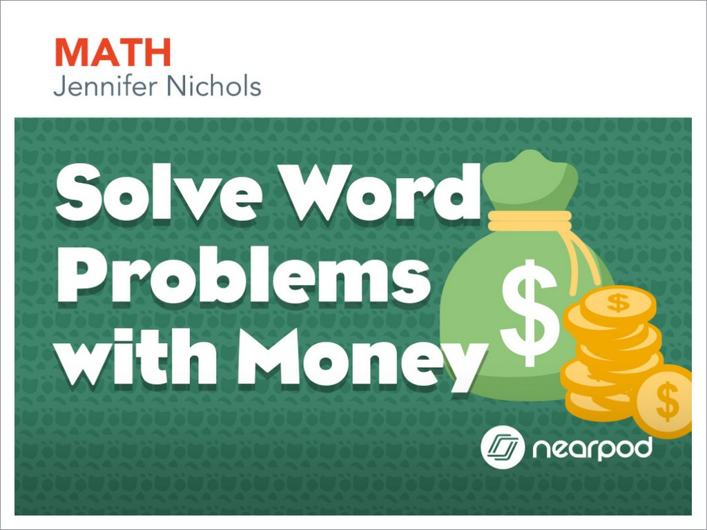 Solve Word Problems with Money