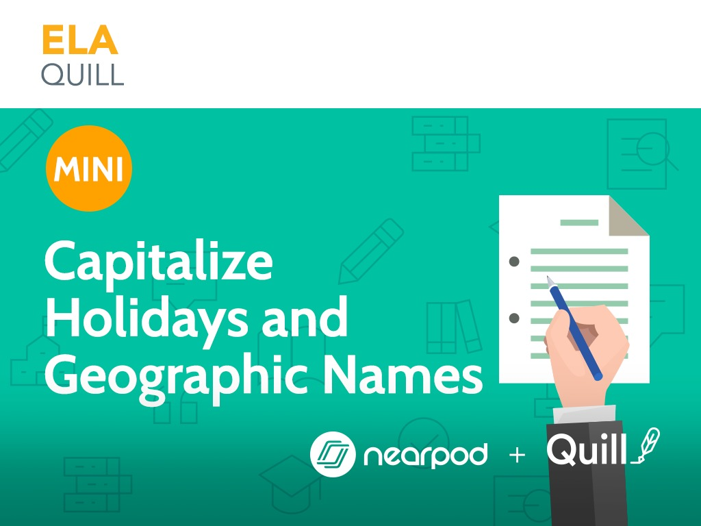 capitalize holidays and geographic names