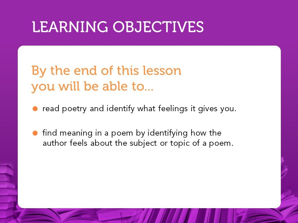 Nearpod The meaning of a poem is what ever you think it is, it doesn't really matter just read it and see what there is not one meaning to the poem. nearpod
