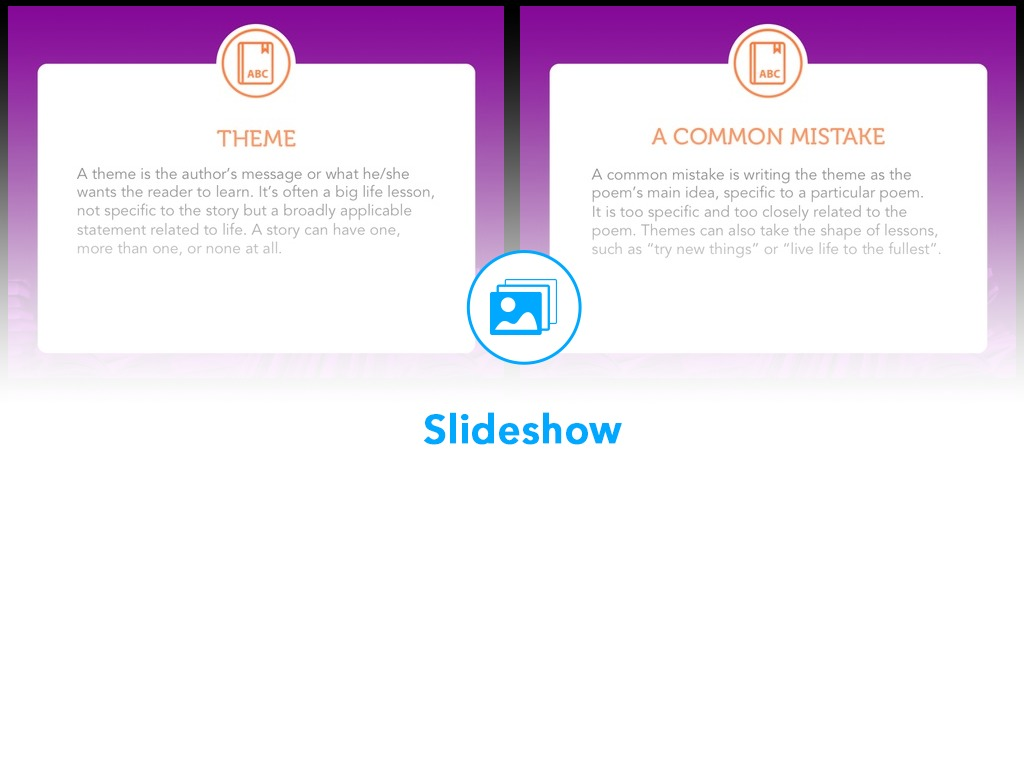 Nearpod The theme of a poem lies in the meaning of the story it tells. nearpod