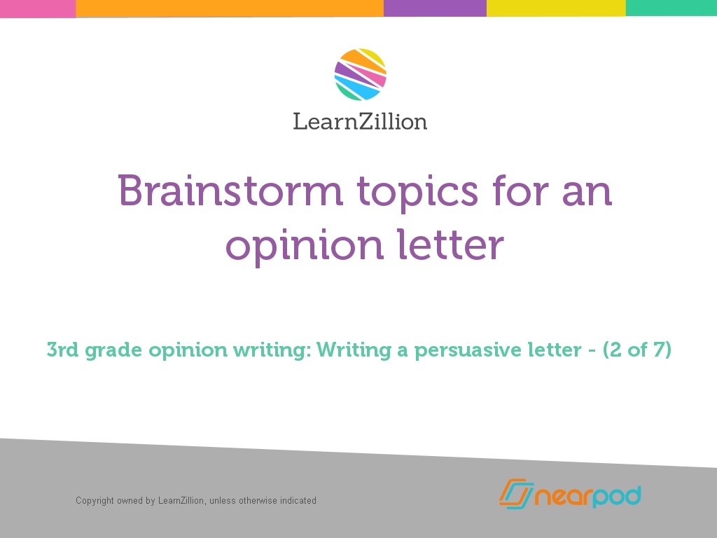 Brainstorm topics for an opinion letter subjects thecheapjerseys Choice Image