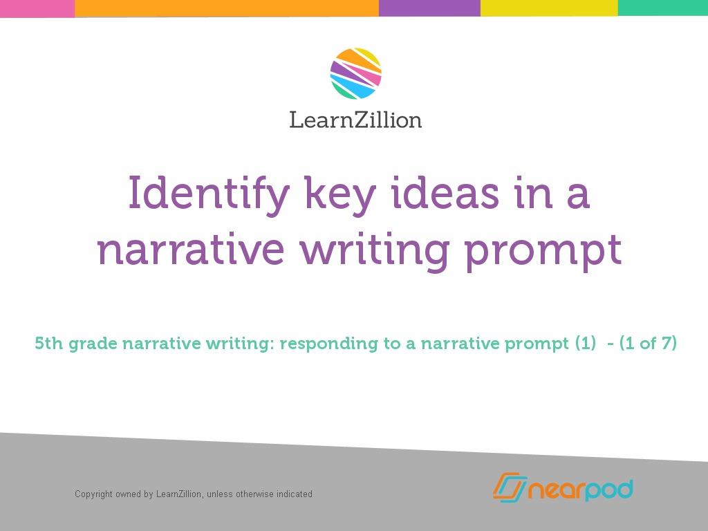narrative essay prompt