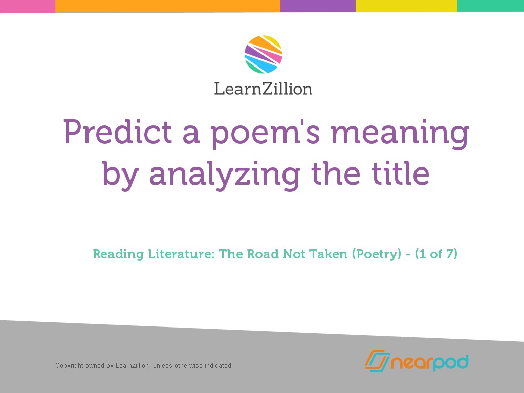 Predict a poem's meaning by analyzing the title