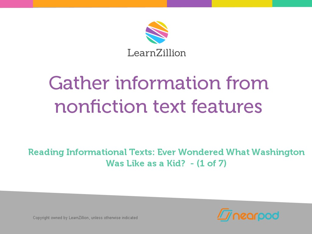 Gather Information From Nonfiction Text Features