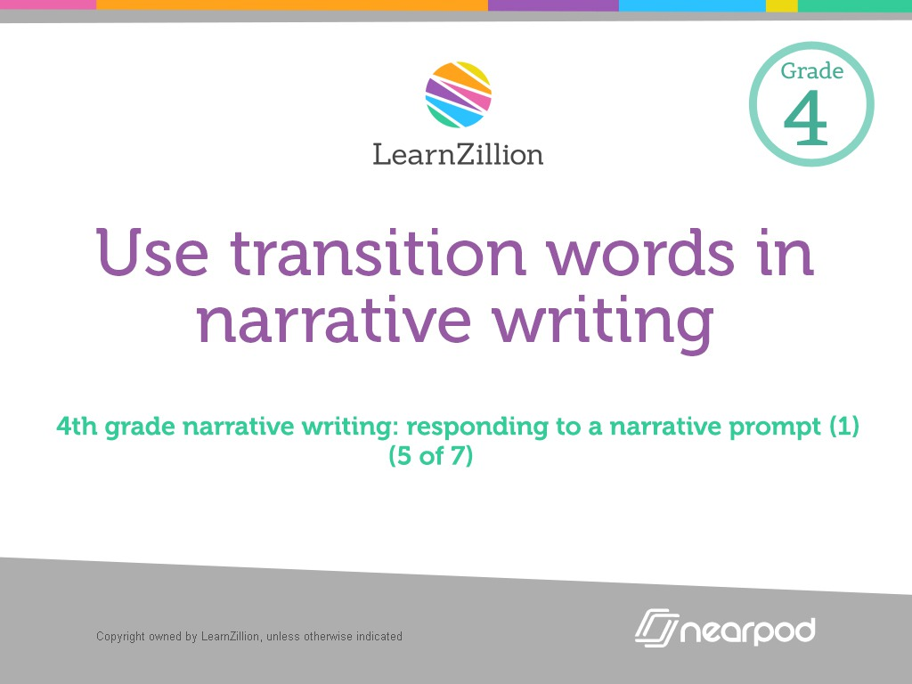 grade narrative essays Ccssela-literacyw74 produce clear and coherent writing in which the development, organization, and style are appropriate to task, purpose, and audience (grade-specific expectations for writing types are defined in standards 1-3 above.