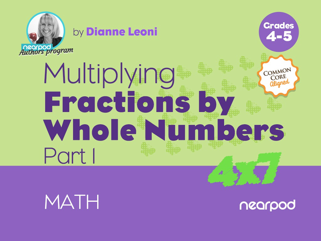 multiplying fractions by whole numbers part 1